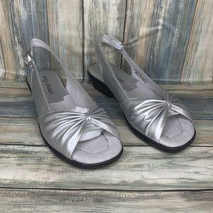 Easy Street Fantasia Open Toe Slingback Sandals
